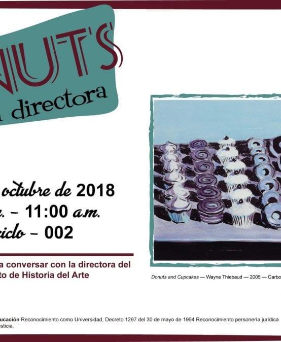 Donut's con la directora de Historia del Arte