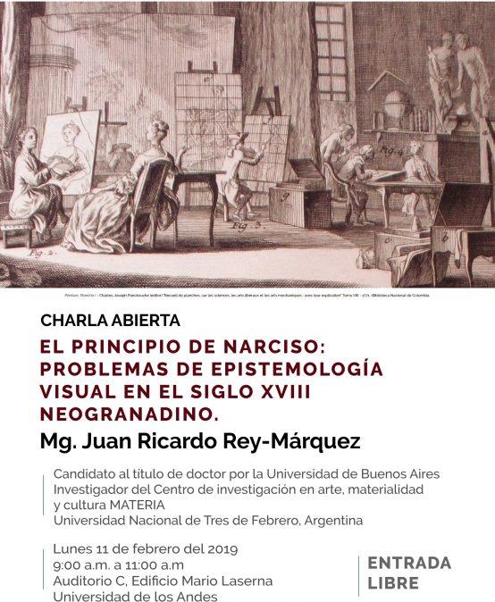 Charla – El principio de narciso: problemas de epistemología visual en el siglo XVIII neogranadino