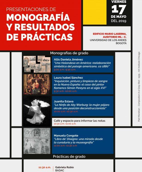 Presentación de monografía y resultado de prácticas