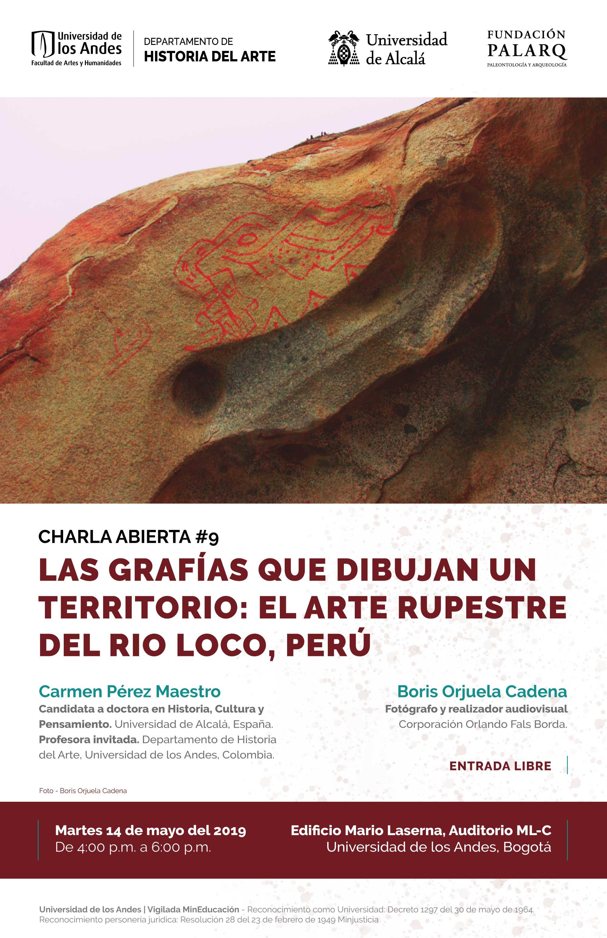 Charla abierta #9 – Las grafías que dibujan un territorio: el arte rupestre del Rio loco, Perú