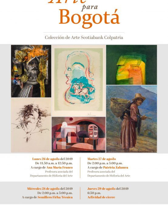 Visita guiada a la exposición Arte para Bogotá por el semillero Ficha Técnica