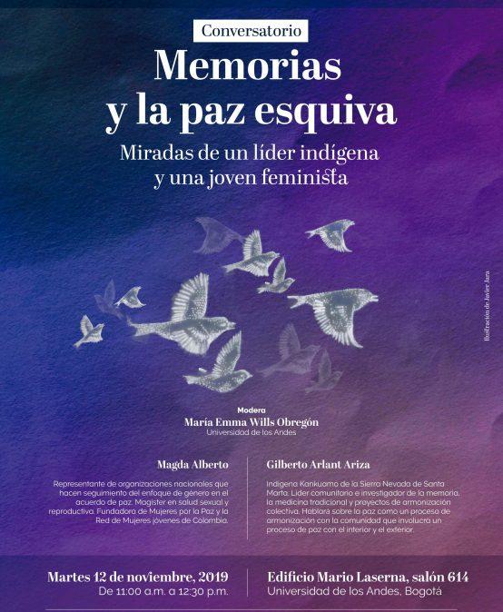 Convesatorio – Memorias y la paz esquiva: miradas de un líder indígena y una joven feminista
