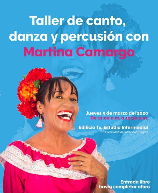 Taller de canto, danza y percusión con Martina Camargo