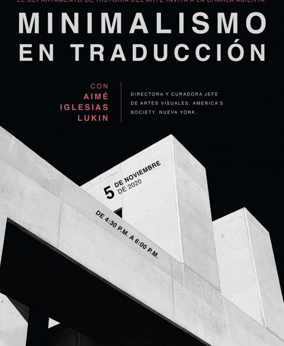 Charla: Minimalismo en traducción