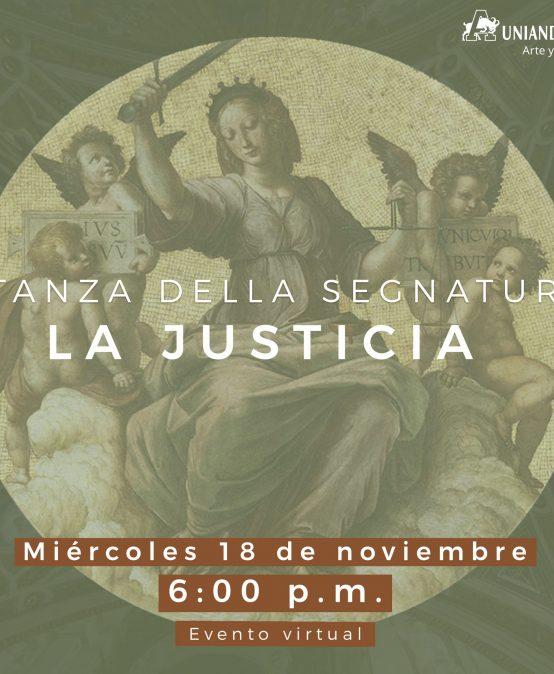 En Uniandinos: Stanza della Segnatura – La Justicia