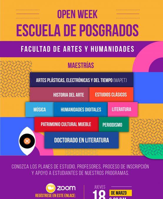 Open week de la Escuela de Posgrados