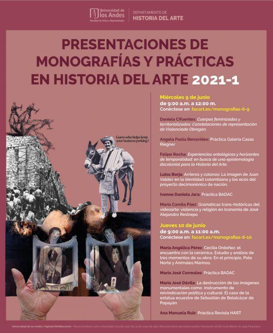 Presentación de monografías y prácticas en Historia del Arte 2021-1